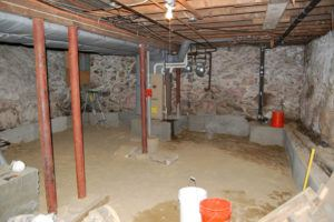 basement underpinning dc - bench footings